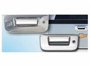 Chevrolet Silverado 2007-2013, 2-door, 4-door, Pickup Truck (2 piece Chrome Plated ABS plastic Tailgate Handle Cover Kit Includes camera access ) DH47184 QAA