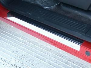 """Chevrolet Silverado 2007-2013, 4-door, Pickup Truck, Crew Cab (4 piece Stainless Steel Door Sill trim 3.5"""" Width ) DS47184 QAA"""