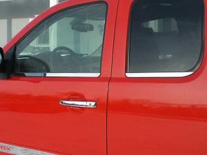 Chevrolet Silverado 2007-2013, 4-door, Pickup Truck, Extended Cab (4 piece Stainless Steel Window Sill Trim Set  ) WS47185 QAA