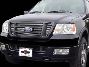 Ford F-150 2004-2008, 2-door, 4-door, Pickup Truck, XL, STX, XLT, FX (6 piece  Billet Grille Overlay Inserts ) SGB44309 QAA