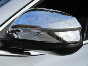 Toyota Highlander 2014-2019, 4-door, SUV (2 piece Chrome Plated ABS plastic Mirror Cover Set Does not include Cut Out for turn signal ) MC13180 QAA