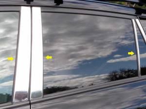 Toyota Rav4 2006-2012, 4-door, SUV (6 piece Stainless Steel Pillar Post Trim  ) PP26181 QAA