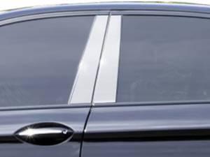 BMW 5 Series 2011-2016, 4-door, Sedan (4 piece Stainless Steel Pillar Post Trim  ) PP11930 QAA