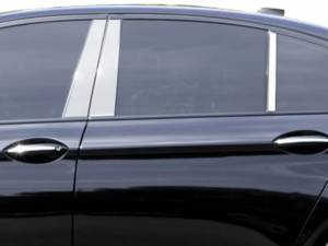 BMW 5 Series 2011-2016, 4-door, Sedan (6 piece Stainless Steel Pillar Post Trim  ) PP11931 QAA