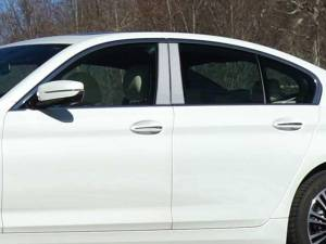 BMW 5 Series 2017-2020, 4-door, Sedan (4 piece Stainless Steel Pillar Post Trim  ) PP17930 QAA