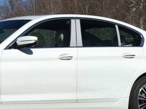 BMW 5 Series 2017-2020, 4-door, Sedan (6 piece Stainless Steel Pillar Post Trim  ) PP17931 QAA