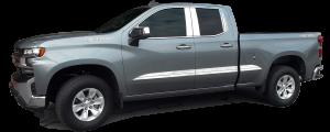 Chevrolet Silverado 2019-2020, 4-door, Pickup Truck, 1500, Double Cab, GMC Sierra, 4-door, (8 piece Stainless Steel Door Handle Accent Trim with Driver Key Hole) DH59170 QAA